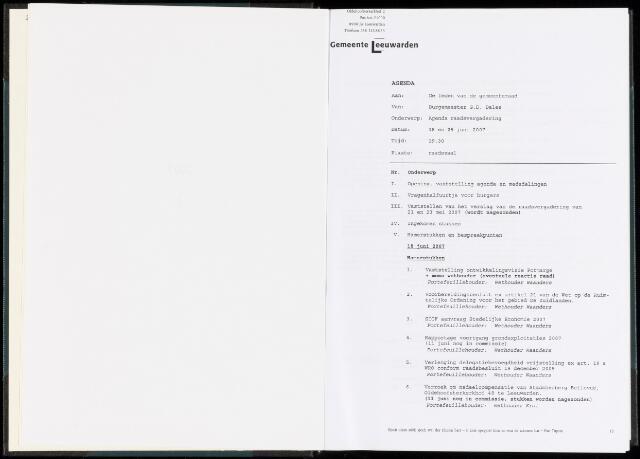 Raadsverslagen van de gemeente Leeuwarden, 1865-2007 (Bijlagen) 2007-01-01