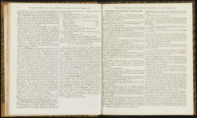 Raadsverslagen van de gemeente Leeuwarden, 1865-2007 (Notulen) 1882-02-09
