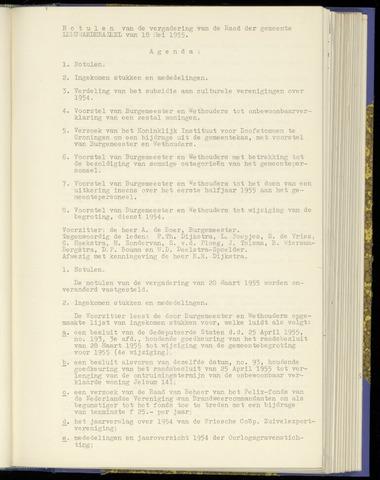 Notulen van de gemeenteraad van Leeuwarderadeel 1955-05-18