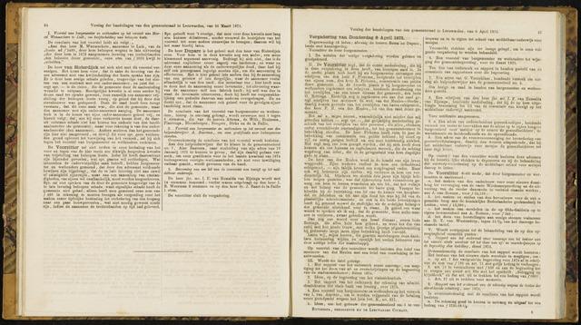 Raadsverslagen van de gemeente Leeuwarden, 1865-2007 (Notulen) 1875-04-08