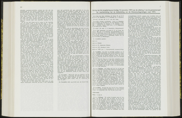 Raadsverslagen van de gemeente Leeuwarden, 1865-2007 (Notulen) 1972-11-14