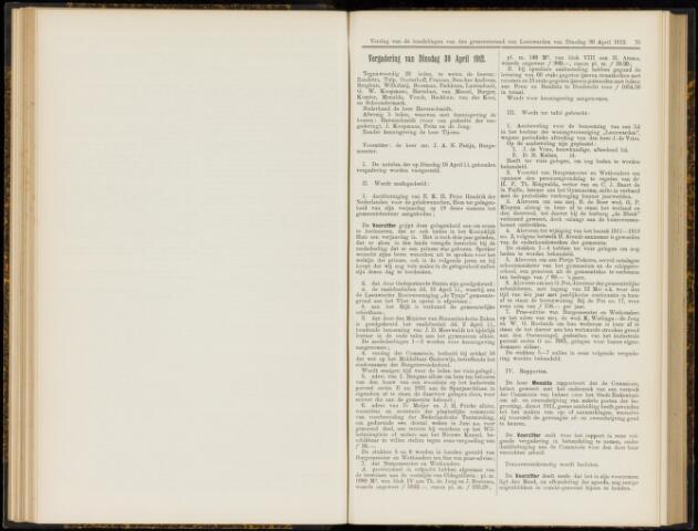 Raadsverslagen van de gemeente Leeuwarden, 1865-2007 (Notulen) 1912-04-30