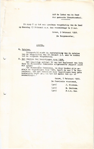 raadsverslagen Idaarderadeel 1935-1983 1950-02-13