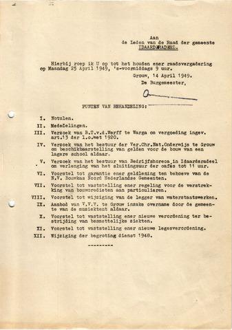 raadsverslagen Idaarderadeel 1935-1983 1949-04-25