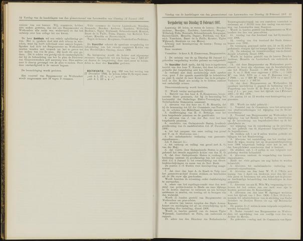 Raadsverslagen van de gemeente Leeuwarden, 1865-2007 (Notulen) 1907-02-12