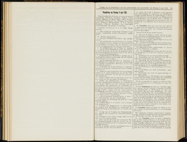 Raadsverslagen van de gemeente Leeuwarden, 1865-2007 (Notulen) 1918-04-09