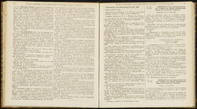 Raadsverslagen van de gemeente Leeuwarden, 1865-2007 (Notulen) 1880-06-24