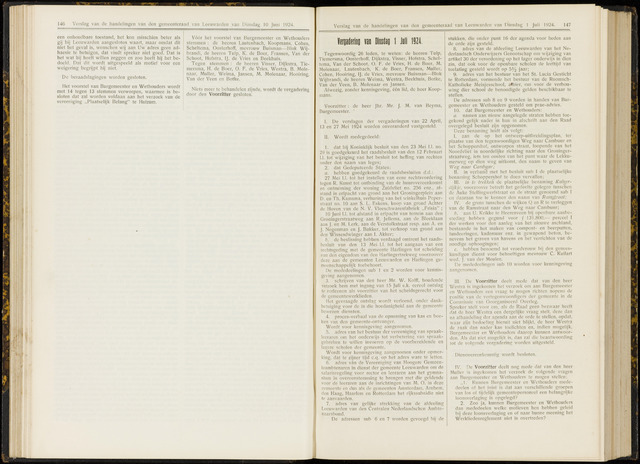 Raadsverslagen van de gemeente Leeuwarden, 1865-2007 (Notulen) 1924-07-01