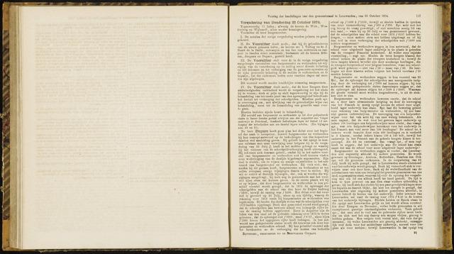 Raadsverslagen van de gemeente Leeuwarden, 1865-2007 (Notulen) 1874-10-22