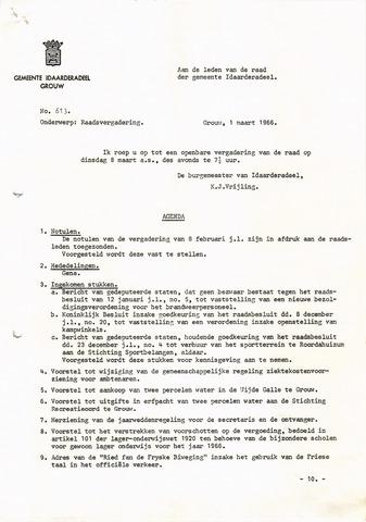 raadsverslagen Idaarderadeel 1935-1983 1966-03-08