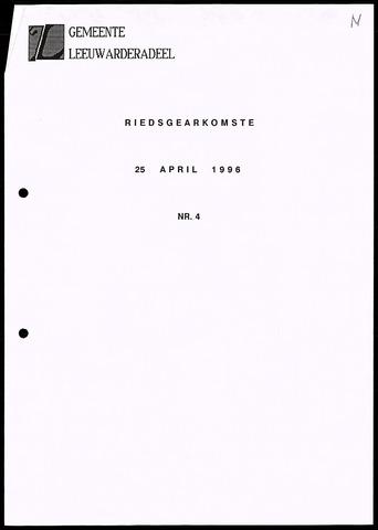 Notulen van de gemeenteraad van Leeuwarderadeel 1996-04-25