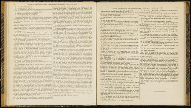 Raadsverslagen van de gemeente Leeuwarden, 1865-2007 (Notulen) 1874-04-23
