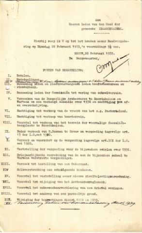 raadsverslagen Idaarderadeel 1935-1983 1939