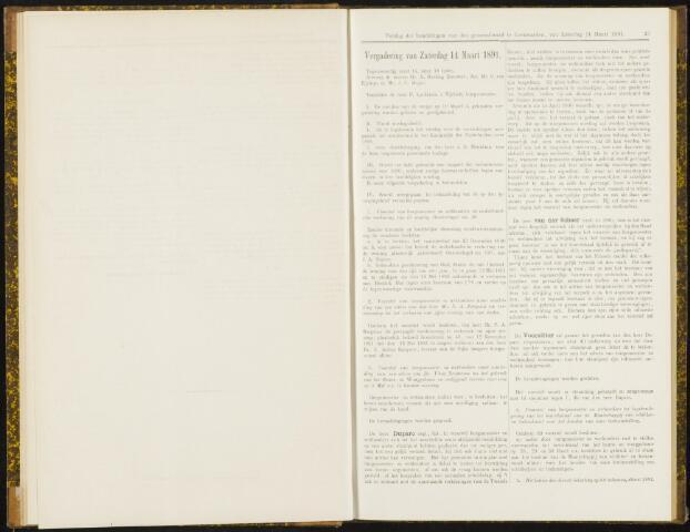 Raadsverslagen van de gemeente Leeuwarden, 1865-2007 (Notulen) 1891-03-14