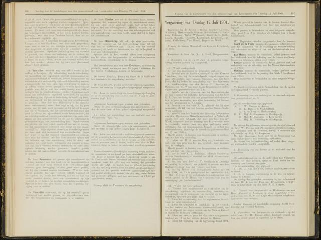 Raadsverslagen van de gemeente Leeuwarden, 1865-2007 (Notulen) 1904-07-12