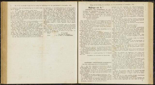 Raadsverslagen van de gemeente Leeuwarden, 1865-2007 (Bijlagen) 1884-01-01