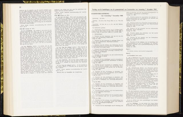 Raadsverslagen van de gemeente Leeuwarden, 1865-2007 (Notulen) 1960-12-07