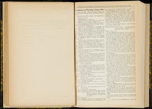 Raadsverslagen van de gemeente Leeuwarden, 1865-2007 (Notulen) 1946