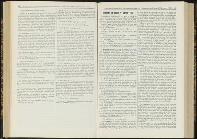 Raadsverslagen van de gemeente Leeuwarden, 1865-2007 (Notulen) 1923-11-27