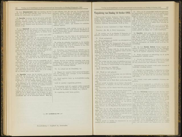 Raadsverslagen van de gemeente Leeuwarden, 1865-2007 (Notulen) 1902-10-14