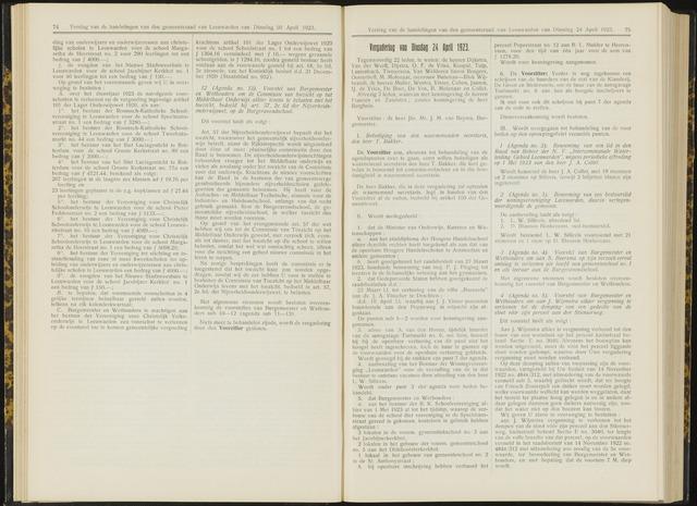 Raadsverslagen van de gemeente Leeuwarden, 1865-2007 (Notulen) 1923-04-24