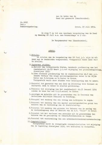 raadsverslagen Idaarderadeel 1935-1983 1954-07-26