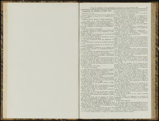 Raadsverslagen van de gemeente Leeuwarden, 1865-2007 (Notulen) 1886-03-23