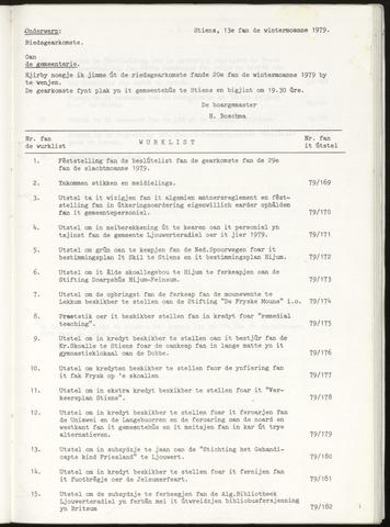 Notulen van de gemeenteraad van Leeuwarderadeel 1979-12-20