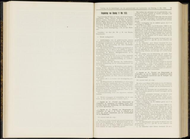 Raadsverslagen van de gemeente Leeuwarden, 1865-2007 (Notulen) 1926-05-11