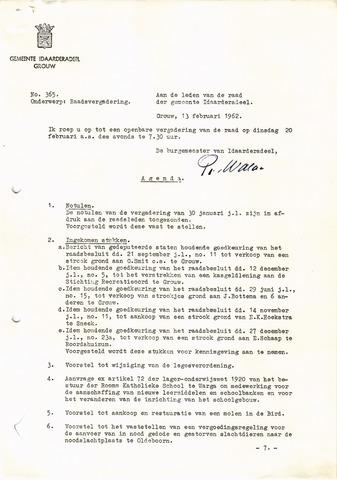 raadsverslagen Idaarderadeel 1935-1983 1962-02-20