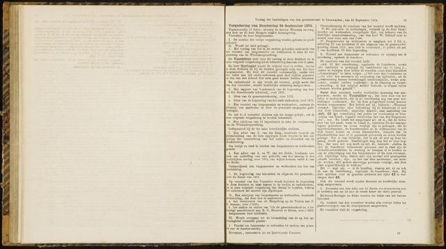Raadsverslagen van de gemeente Leeuwarden, 1865-2007 (Notulen) 1874-09-24