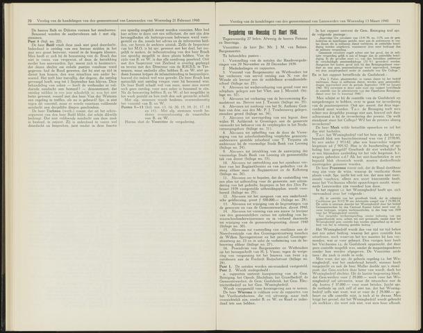 Raadsverslagen van de gemeente Leeuwarden, 1865-2007 (Notulen) 1940-03-13