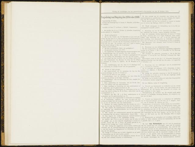 Raadsverslagen van de gemeente Leeuwarden, 1865-2007 (Notulen) 1888-10-23