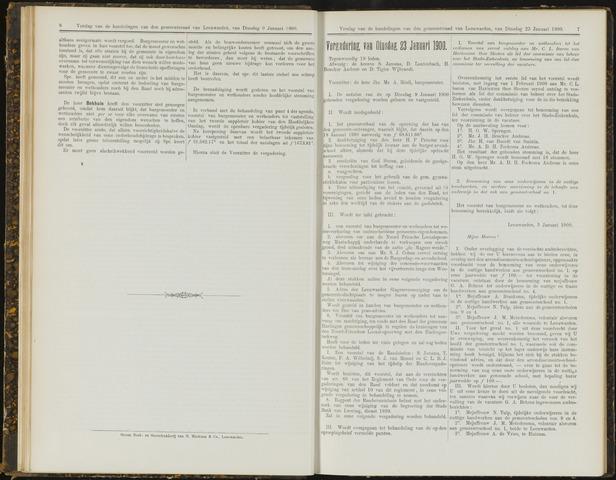 Raadsverslagen van de gemeente Leeuwarden, 1865-2007 (Notulen) 1900-01-23
