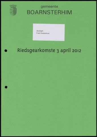 Boarnsterhim vergaderstukken gemeenteraad  2012-04-03