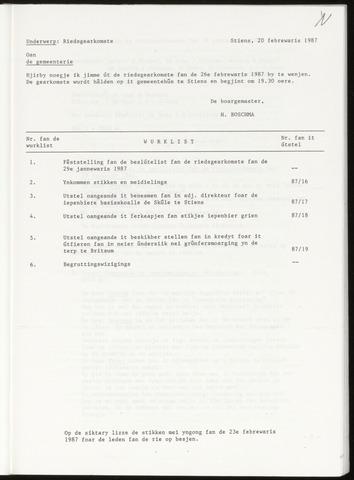 Notulen van de gemeenteraad van Leeuwarderadeel 1987-02-26