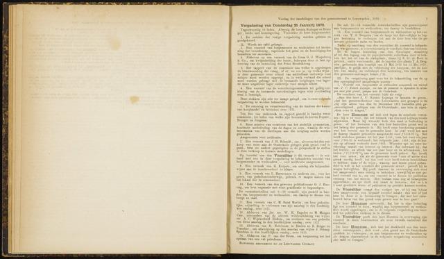 Raadsverslagen van de gemeente Leeuwarden, 1865-2007 (Notulen) 1872-01-25