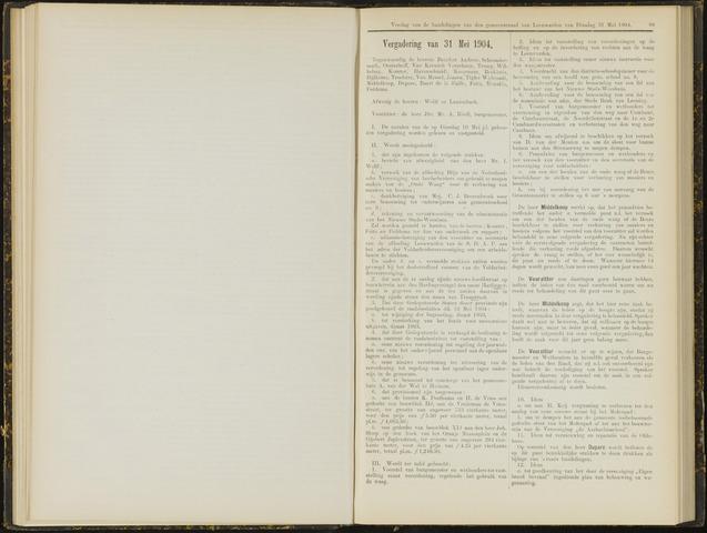 Raadsverslagen van de gemeente Leeuwarden, 1865-2007 (Notulen) 1904-05-31