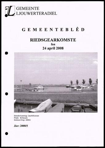 Notulen van de gemeenteraad van Leeuwarderadeel 2008-04-24
