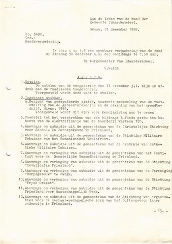 raadsverslagen Idaarderadeel 1935-1983 1958-12-30