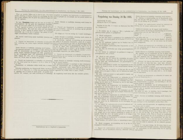 Raadsverslagen van de gemeente Leeuwarden, 1865-2007 (Notulen) 1895-05-28