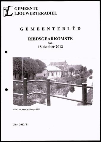 Notulen van de gemeenteraad van Leeuwarderadeel 2012-10-18