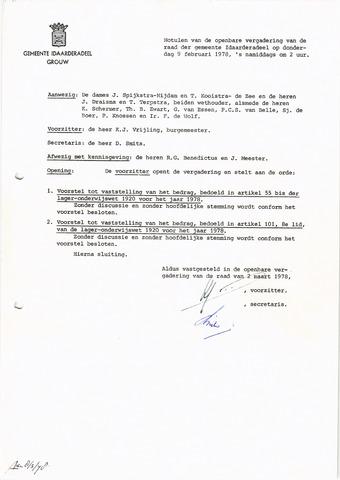 raadsverslagen Idaarderadeel 1935-1983 1978-02-09