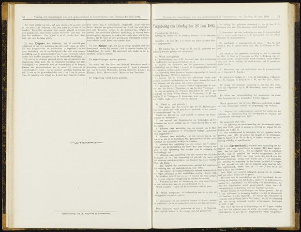 Raadsverslagen van de gemeente Leeuwarden, 1865-2007 (Notulen) 1894-06-26