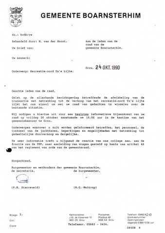 Boarnsterhim vergaderstukken gemeenteraad  1990-10-26