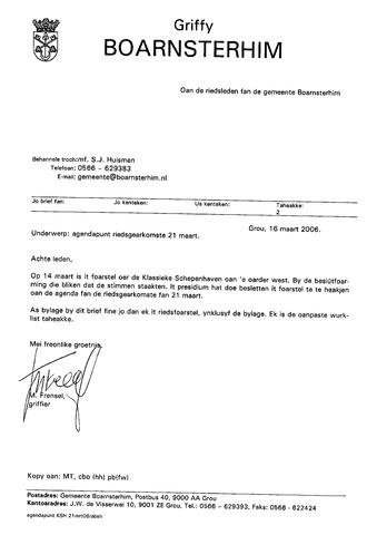 Boarnsterhim vergaderstukken gemeenteraad  2006-03-21