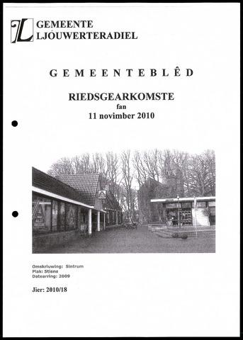 Notulen van de gemeenteraad van Leeuwarderadeel 2010-11-11