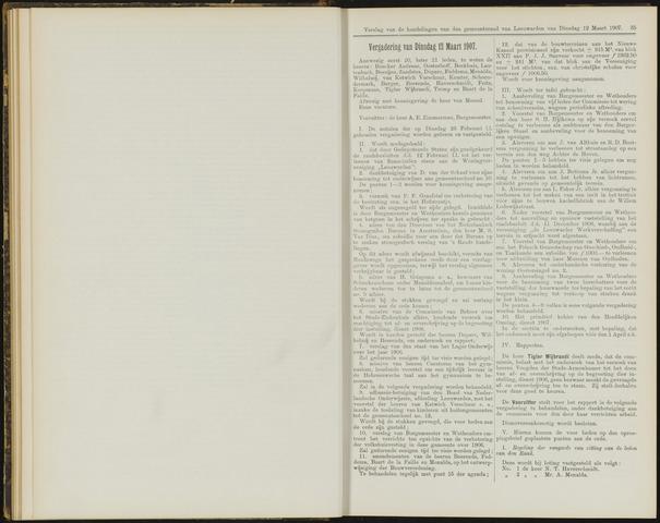 Raadsverslagen van de gemeente Leeuwarden, 1865-2007 (Notulen) 1907-03-12
