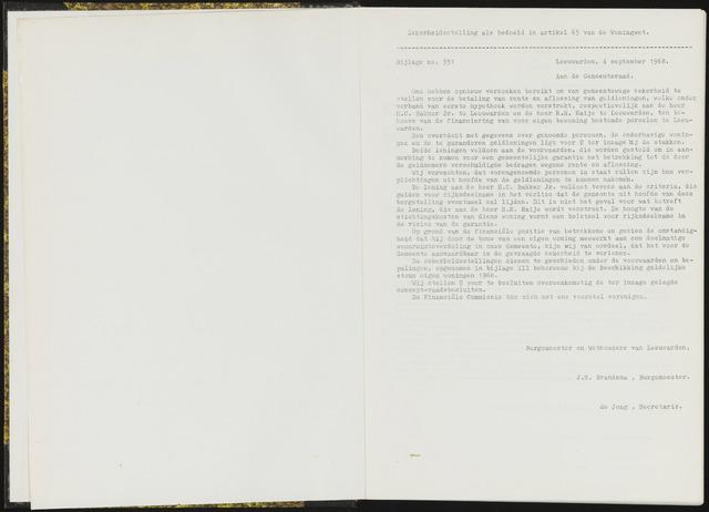 Raadsverslagen van de gemeente Leeuwarden, 1865-2007 (Bijlagen) 1968-01-01