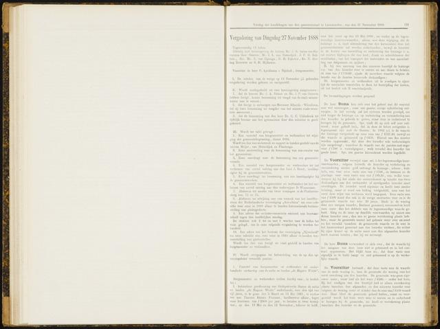 Raadsverslagen van de gemeente Leeuwarden, 1865-2007 (Notulen) 1888-11-27
